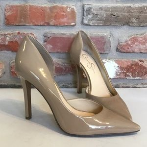 JESSICA SIMPSON Nude Pointy CLAUDETTE Pumps Heels